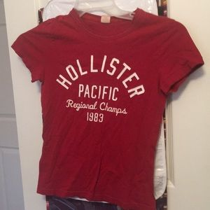 Red Hollister Graphic Tee